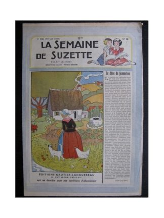 La Semaine de Suzette 38e année n°18 (1947) Le rêve de Jeanneton (Bleuette)