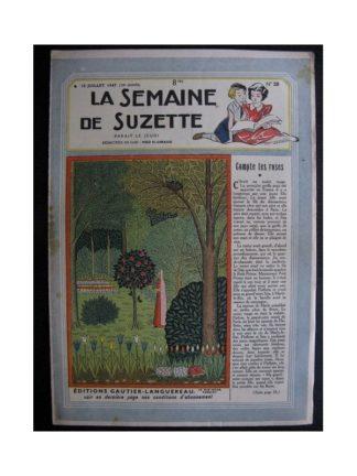 La Semaine de Suzette 38e année n°28 (1947) Compte tes roses