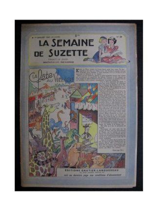 La Semaine de Suzette 38e année n°29 (1947) La fête au village