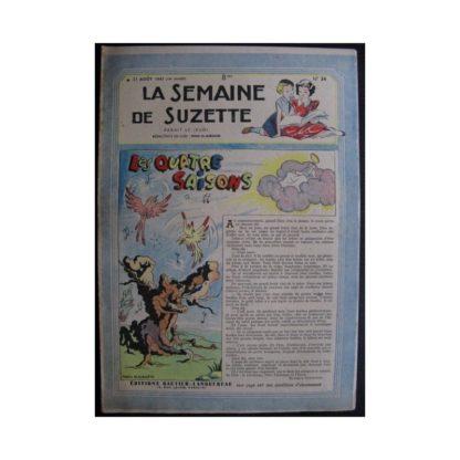 La Semaine de Suzette 38e année n°34 (1947) Les quatre saisons