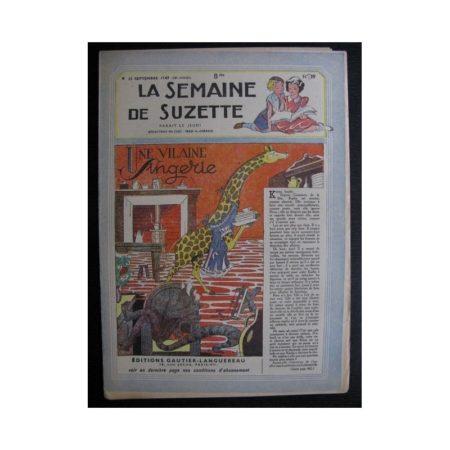 La Semaine de Suzette 38e année n°39 (1947) Une vilaine singerie (Bleuette)