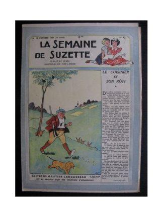 La Semaine de Suzette 38e année n°42 (1947) Le cuisinier et son roti