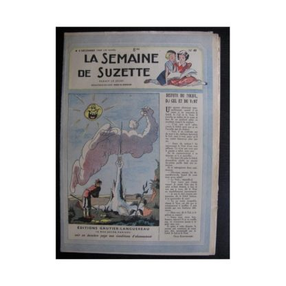 La Semaine de Suzette 38e année n°49 (1947) Dispute du soleil du gel et du vent (Bleuette)
