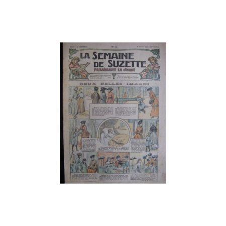La semaine de Suzette 13e année n°2 (1917) Deux belles images (Bleuette)