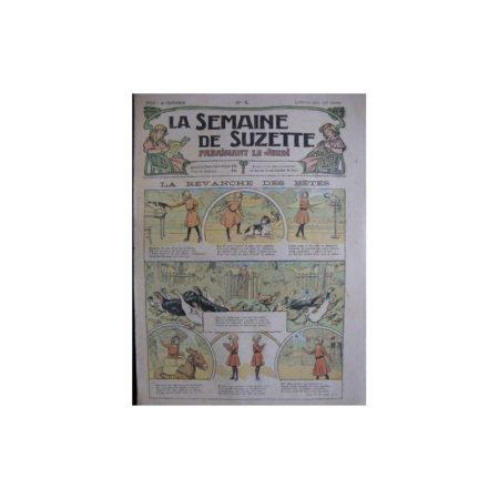 La semaine de Suzette 13e année n°4 (1917) La revanche des bêtes (Bleuette)
