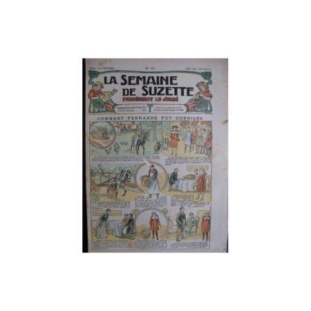 La semaine de Suzette 13e année n°14 (1917) Comment Fernande fut corrigée (Bleuette)