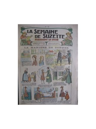 La semaine de Suzette 13e année n°15 (1917) La manière de donner