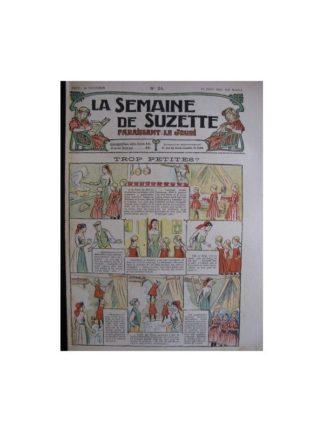 La semaine de Suzette 13e année n°24 (1917) Trop petites?