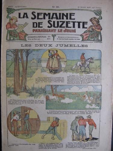 La semaine de Suzette 13e année n°51 (1918) les deux jumelles