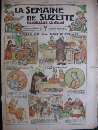 La semaine de Suzette 13e année n°52 (1918) Au temps où la reine filait (Bleuette)