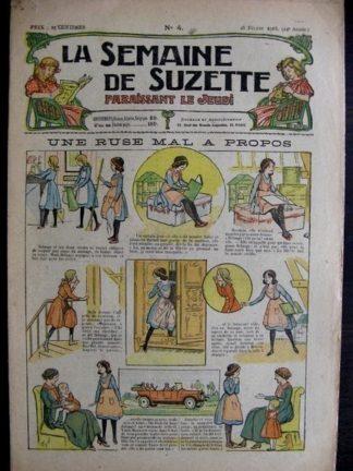 La semaine de Suzette 14e année n°4 (1918) Une ruse mal à propos (Bleuette)