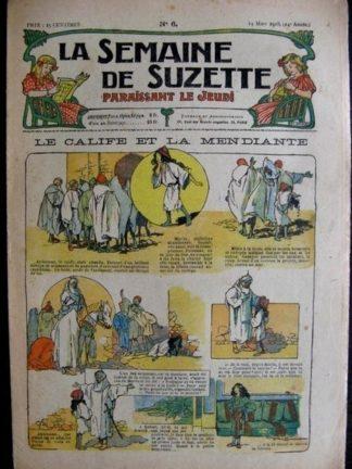La semaine de Suzette 14e année n°6 (1918) Le calife et la mendiante (Bleuette)