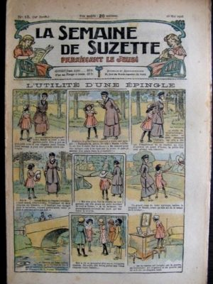 La Semaine de Suzette 14e année n°15 (1918) – L'utilité d'une épingle (Bleuette)