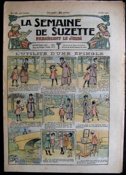 La Semaine de Suzette 14e année n°15 (1918) - L'utilité d'une épingle (Bleuette)