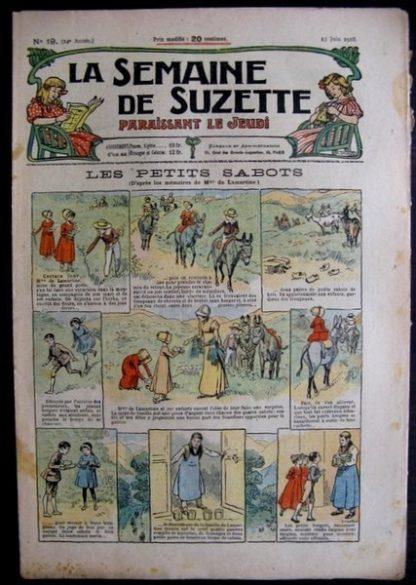 La Semaine de Suzette 14e année n°19 (1918) - Les petits sabots