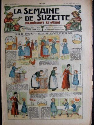 La Semaine de Suzette 14e année n°20 (1918) - Une nouvelle couveuse (Bleuette)