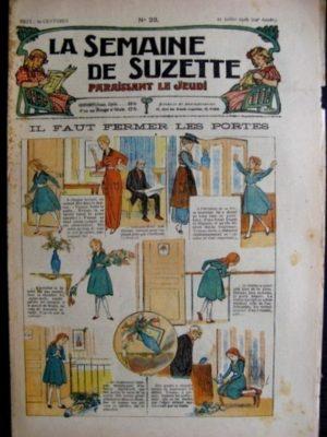 La Semaine de Suzette 14e année n°23 (1918) – Il faut fermer les portes (Bleuette)