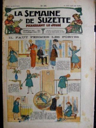 La Semaine de Suzette 14e année n°23 (1918) - Il faut fermer les portes (Bleuette)