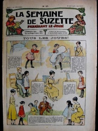 La Semaine de Suzette 14e année n°27 (1918) - Tous les jours!