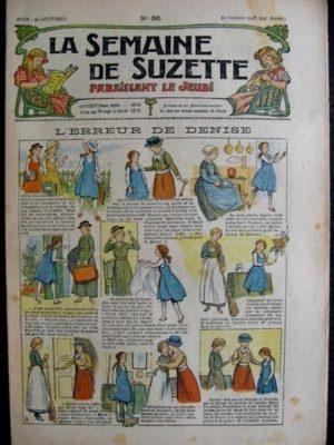 La Semaine de Suzette 14e année n°36 (1918) – L'erreur de Denise