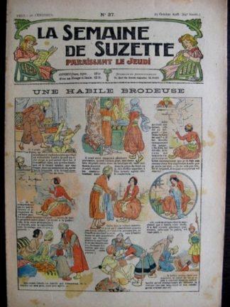 La Semaine de Suzette 14e année n°37 (1918) - Une habile brodeuse