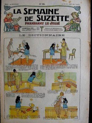 La Semaine de Suzette 14e année n°38 (1918) – Le dictionnaire (Bleuette)