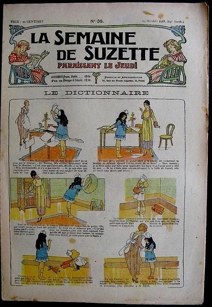 La Semaine de Suzette 14e année n°38 (1918) - Le dictionnaire (Bleuette)