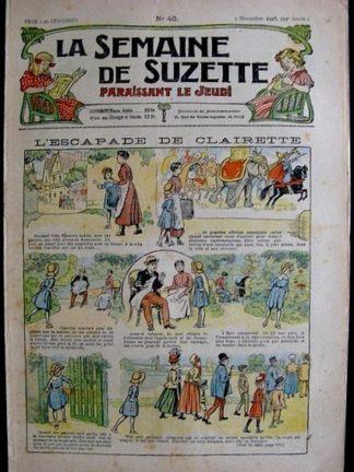 La Semaine de Suzette 14e année n°40 (1918) - L'escapade de Clairette (Bleuette)