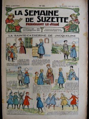 La Semaine de Suzette 14e année n°42 (1918) – La Sainte-Catherine de Jacqueline (Bleuette)