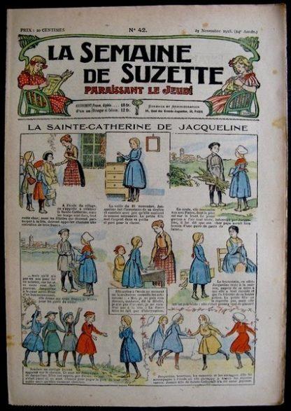 La Semaine de Suzette 14e année n°42 (1918) - La Sainte-Catherine de Jacqueline (Bleuette)