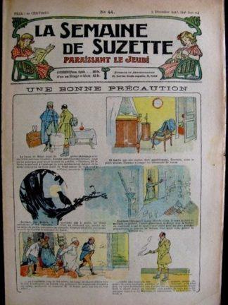 La Semaine de Suzette 14e année n°44 (1918) - Une bonne précaution (Bleuette)