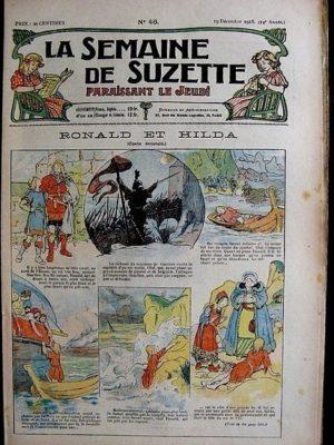 La Semaine de Suzette 14e année n°46 (1918) – Ronald et Hilda (conte écossais) Bleuette