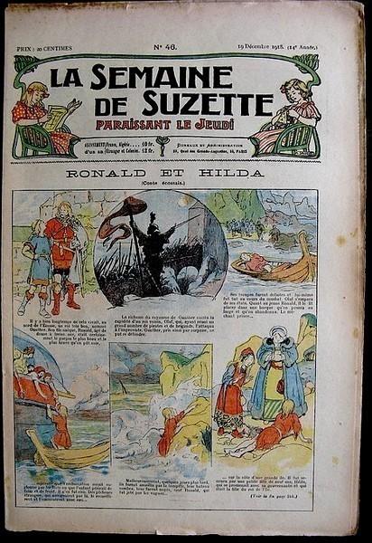 La Semaine de Suzette 14e année n°46 (1918) - Ronald et Hilda (conte écossais) Bleuette
