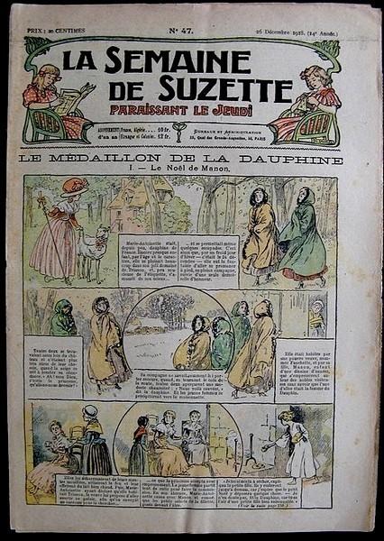 La Semaine de Suzette 14e année n°47 (1918) - Le médaillon de la Dauphine (Bleuette)
