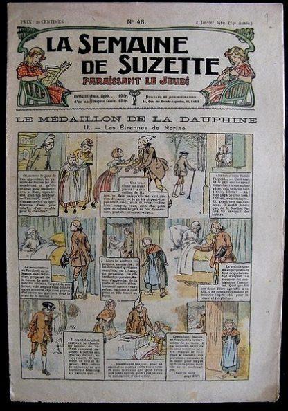 La Semaine de Suzette 14e année n°48 (1919) - Le médaillon de la Dauphine