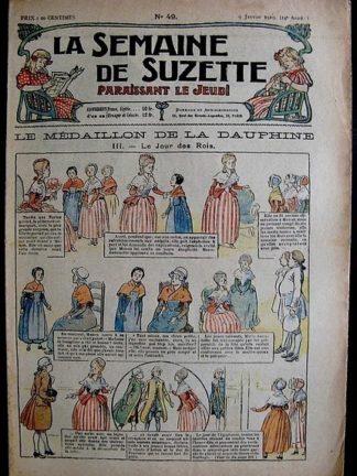 La Semaine de Suzette 14e année n°49 (1919) - Le médaillon de la Dauphine (Bleuette)