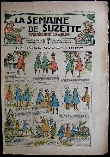 La Semaine de Suzette 14e année n°50 (1919) - La plus courageuse