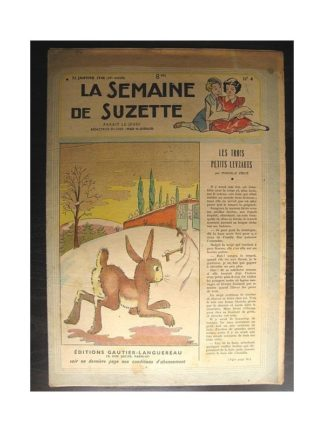 La semaine de Suzette 39e année n°4 (1948) Les trois petits levrauts