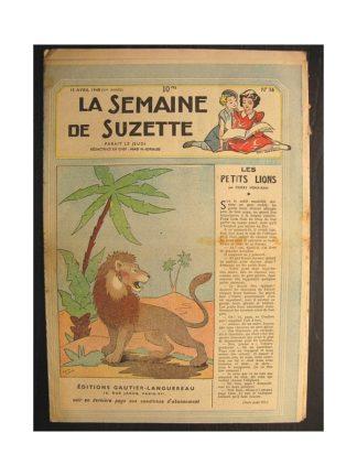 La semaine de Suzette 39e année n°16 (1948) Les petits lions (Bleuette)