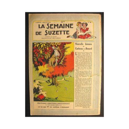 La semaine de Suzette 39e année n°28 (1948) Nouvelle histoire du corbeau et du renart