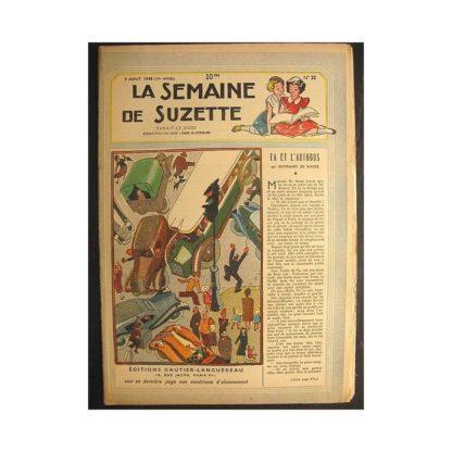 La semaine de Suzette 39e année n°32 (1948) Fa et l'autobus (Bleuette)
