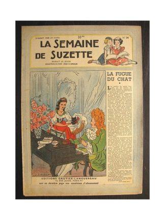 La semaine de Suzette 39e année n°34 (1948) La fugue du chat (Bleuette)