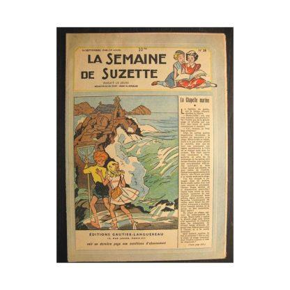 La semaine de Suzette 39e année n°38 (1948) La chapelle marine (Bleuette)