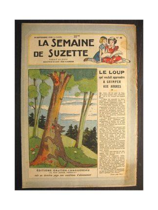 La semaine de Suzette 39e année n°40 (1948) Le loup qui voulait grimper aux arbres