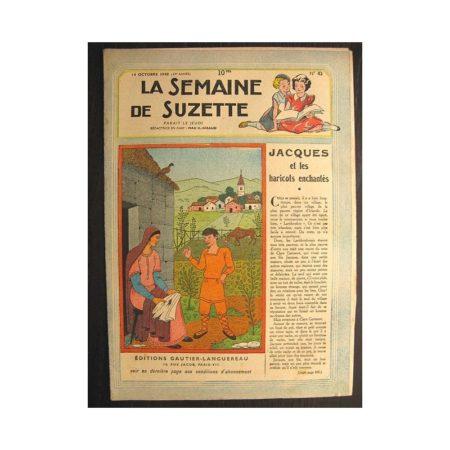 La semaine de Suzette 39e année n°42 (1948) Jacques et les haricots enchantés (Bleuette)