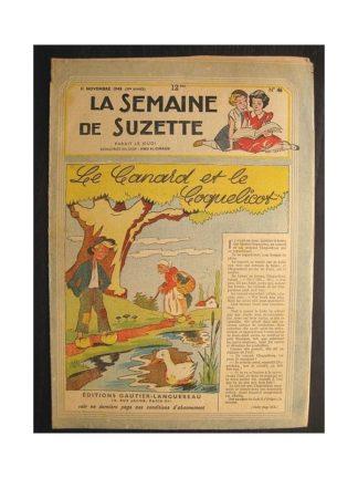 La semaine de Suzette 39e année n°46 (1948) Le canard et le coquelicot