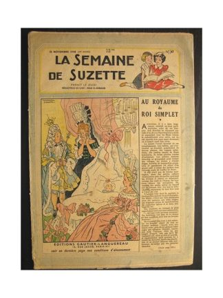 La semaine de Suzette 39e année n°47 (1948) Au royaume du roi simplet