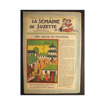 La semaine de Suzette 39e année n°51 (1948) Une leçon de politesse