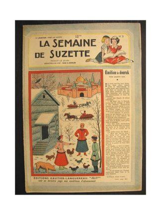 La semaine de Suzette 40e année n°2 (1949) Emilian le dourak (Bleuette)