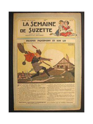 La semaine de Suzette 40e année n°5 (1949) Prosper Piquepoint et son lit